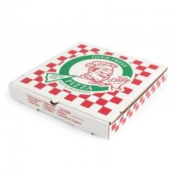 Pizza Kutusu l 25x25x4 l Beyaz Baskılı