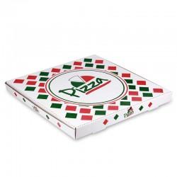 Pizza Kutusu l 20x20x4 l Beyaz Baskılı