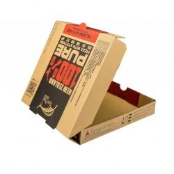 Pizza Kutusu l 22x22x4 l Kraft Baskılı