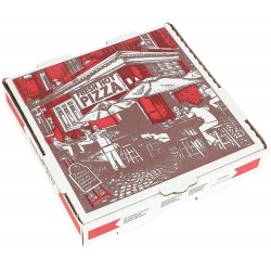 Pizza Kutusu l 26x26x4 l Beyaz Baskılı