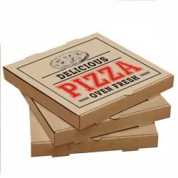 Pizza Kutusu l 20x20x4 l Kraft Baskılı