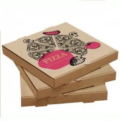 Pizza Kutusu l 25x25x4 l Kraft Baskılı