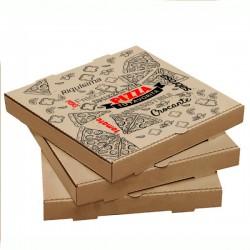 Pizza Kutusu l 26x26x4 l Kraft Baskılı